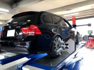 BMW3シリーズE91の4輪アライメント調整
