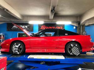 180SX 車高調整 アライメント調整