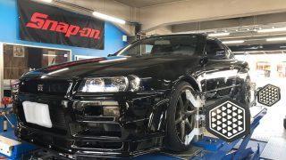 R34 GTR アライメント調整